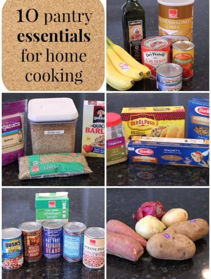My favorite pantry essentials to have on hand to make home cooking easier! | FamilyFoodontheTable.com