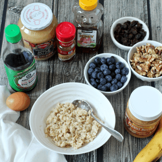 Quick real oatmeal breakfast