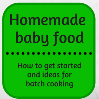 baby food, getting started, batch cooking