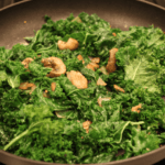 Sautéed kale and mushrooms