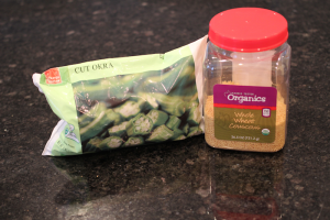 okra couscous, baby food