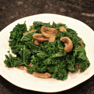 Sauteed kale and mushrooms