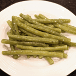 Slow simmered green beans