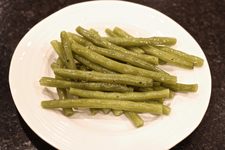 Green beans simmer slowly for a tender, delicious and easy side dish.