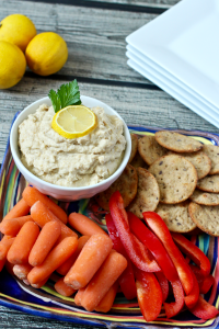 5-minute lightened up hummus