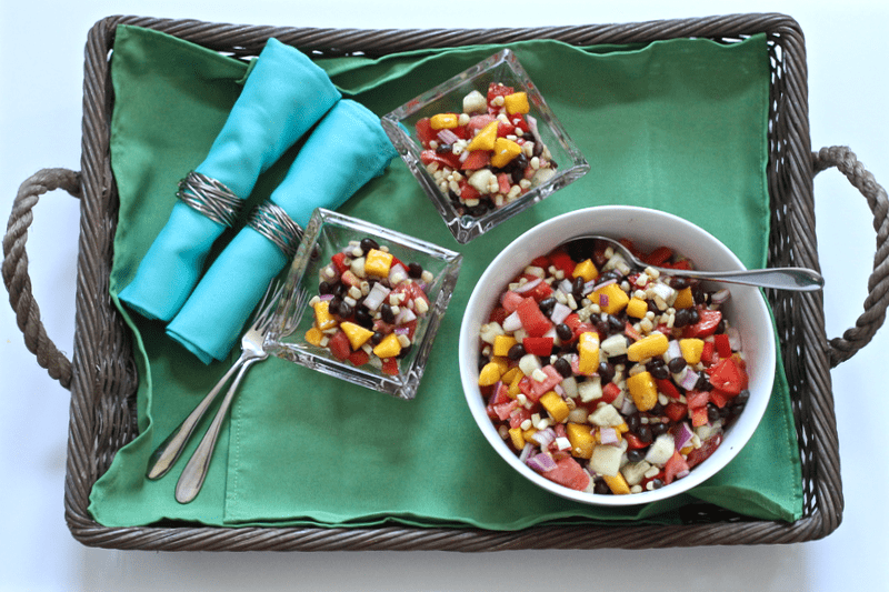 Black bean and mango salad - easy, flavorful and very versatile! | FamilyFoodontheTable.com