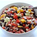 Black bean and mango salad (+ video)