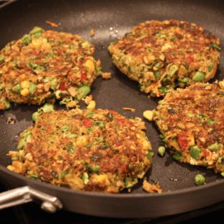 Veggie-packed veggie burgers
