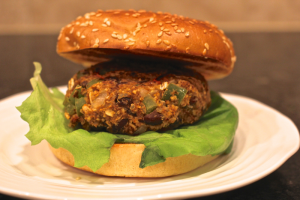 Fiesta black bean burger