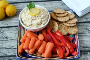 5-minute lightened up hummus
