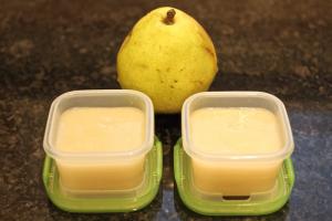 baby food pear puree