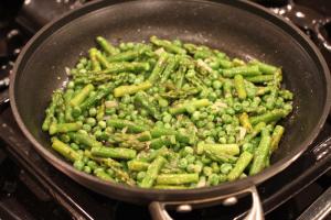 Asparagus and peas with basil | FamilyFoodontheTable.com