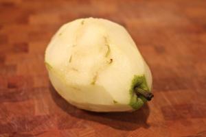 peeled pear