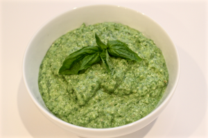 spinach-basil yogurt pesto