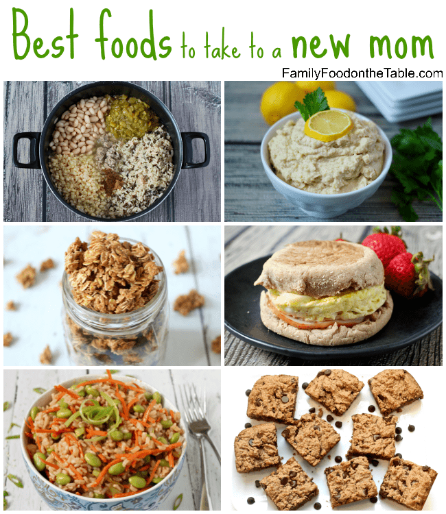 Best foods to take to a new mom - and other ways to pamper her during your visit! | FamilyFoodontheTable.com