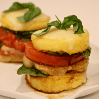 Caprese polenta stacks | FamilyFoodontheTable.com