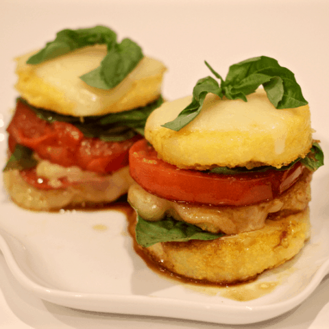 Caprese polenta stacks | FamilyFoodontheTable.com