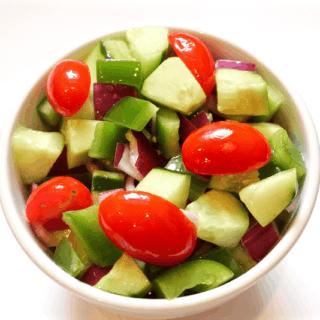 Marinated veggie salad   FamilyFoodontheTable.com