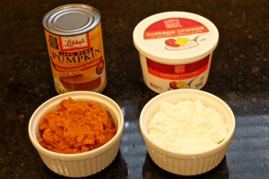 homemade baby food pumpkin cottage cheese