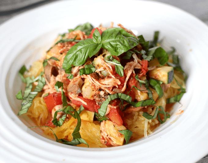 Summer chicken and veggie spaghetti | FamilyFoodontheTable.com