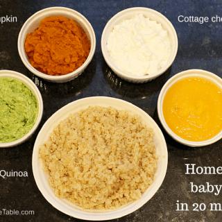 Homemade baby food: Round 3