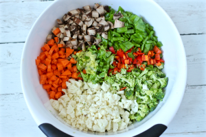 Asian chicken chopped salad veggies