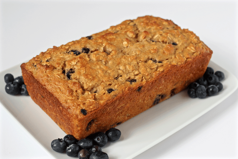 Whole grain blueberry yogurt bread - Family Food on the Table