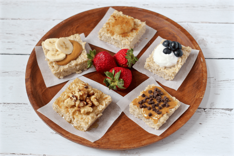Breakfast oatmeal squares - a make-ahead customizeable breakfast! | FamilyFoodontheTable.com