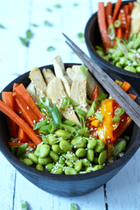 Brown rice Buddha bowl