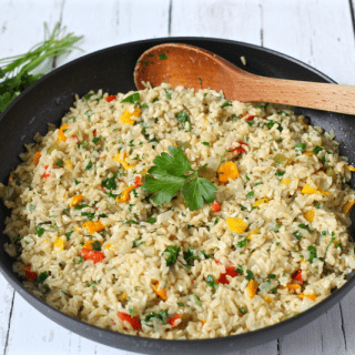 Confetti brown rice | FamilyFoodontheTable.com