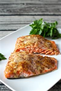 Easy honey-dijon roasted salmon