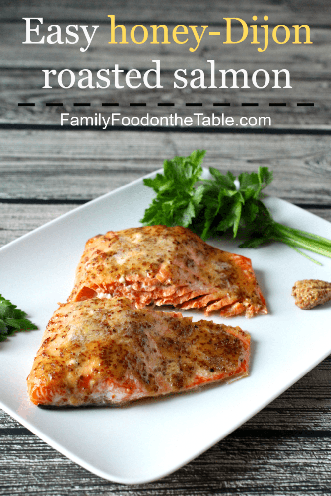 Easy honey-dijon roasted salmon