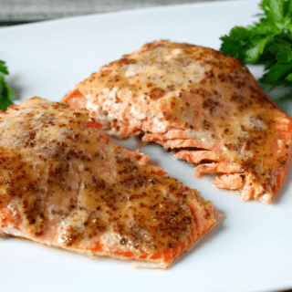 Easy honey-dijon roasted salmon | FamilyFoodontheTable.com