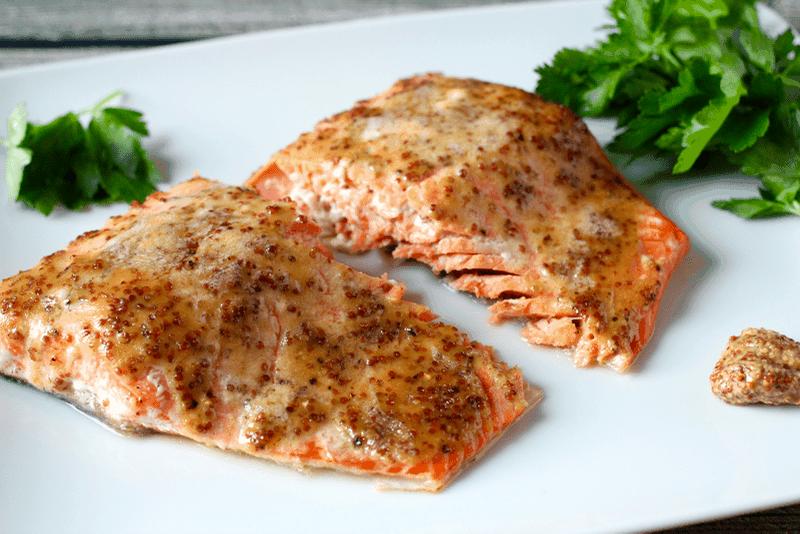 Easy honey-dijon roasted salmon | FamilyFoodontheTable.com