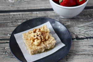 Honey walnut oatmeal square | FamilyFoodontheTable.com