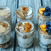Overnight oatmeal jars