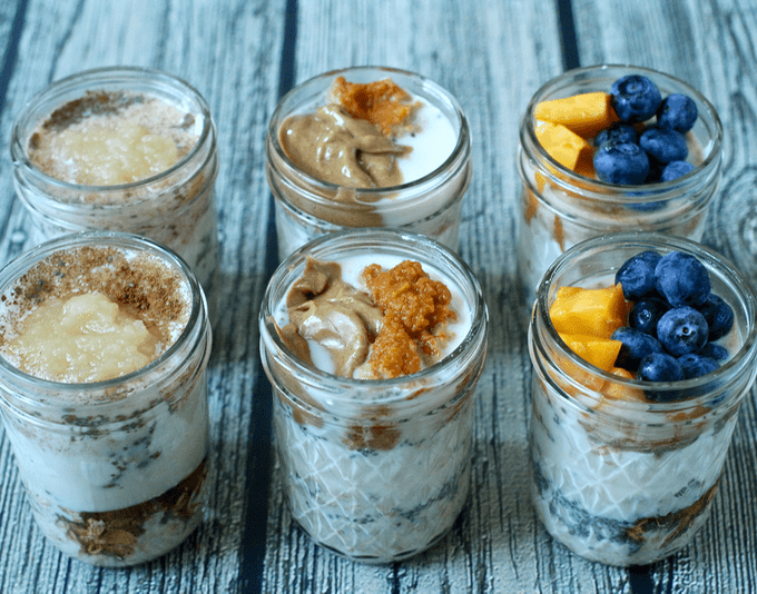 Overnight oatmeal jars, 3 ways | Family Food on the Table