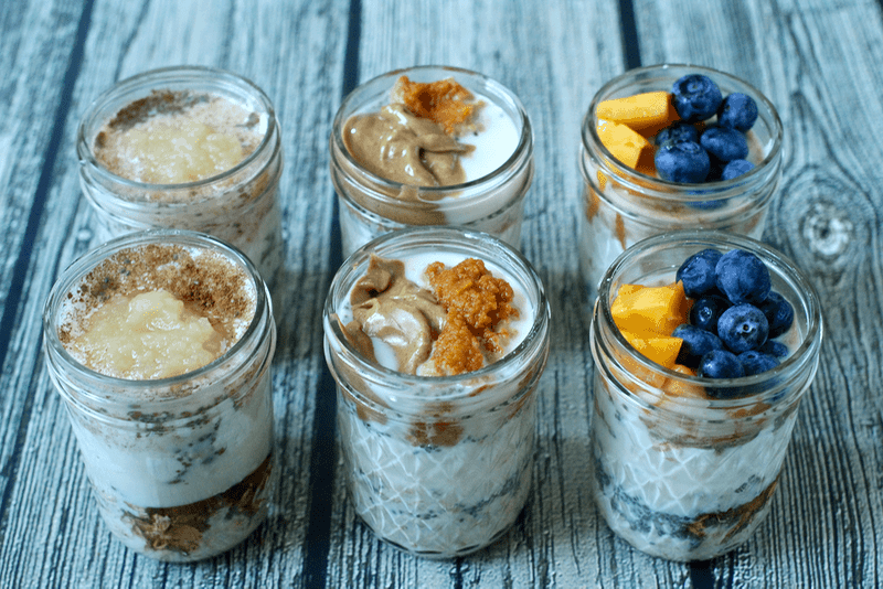 Overnight oatmeal jars 3 ways family food on the table forumfinder Gallery