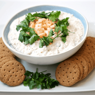 Quickie crab dip appetizer - a crowd pleaser!
