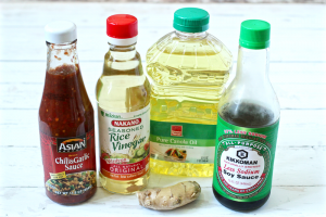 Homemade soy ginger dressing ingredients