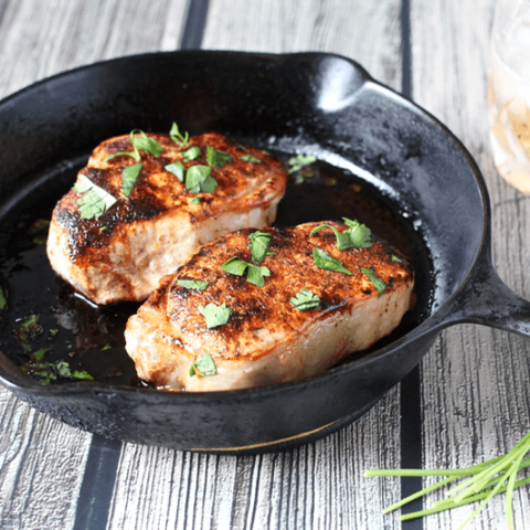 Spice-rubbed pork chops
