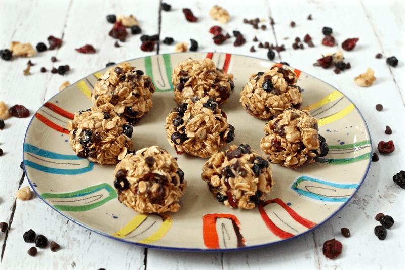 5-minute granola balls