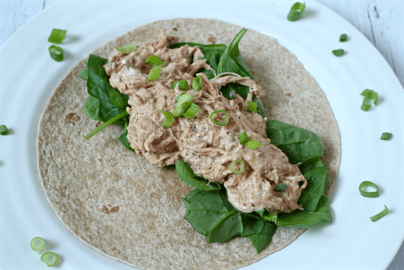 Creamy shredded chicken tacos | FamilyFoodontheTable.com