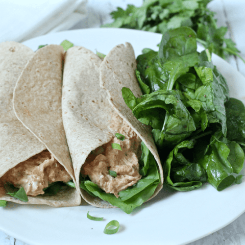 Creamy shredded chicken tacos