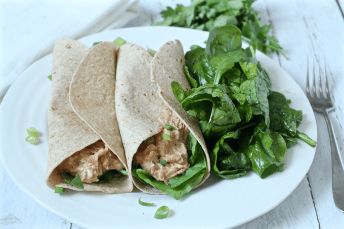 Creamy chicken tacos dinner