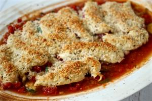 Skinny Italian chicken bake | FamilyFoodontheTable.com