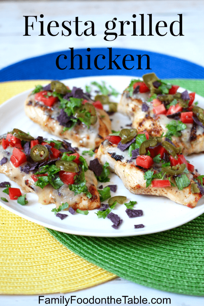 Cheesy fiesta grilled chicken with fun toppings