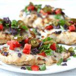 Cheesy fiesta grilled chicken