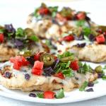 Cheesy fiesta grilled chicken