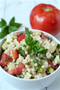 Israeli couscous salad with veggies | FamilyFoodontheTable.com
